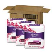 Always Discreet Incontinence Liners, Very Light, Long, 44/Pack, 3 Packs/Carton (92724)