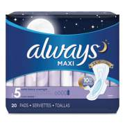 Always Maxi Pads, Extra Heavy Overnight, 20/Pack, 6 Packs/Carton (17902)