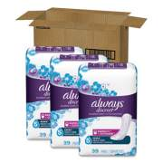 Always Discreet Sensitive Bladder Protection Pads, Heavy, Long, 39/Pack, 3 Packs/Carton (92729)