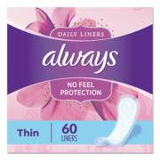 Always Thin Daily Panty Liners, 60/Pack, 12 Pack/Carton (08282)