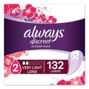 Always Discreet Incontinence Liners, Very Light, Long, 44/Pack (92724PK)