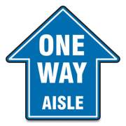 "Accuform Slip-Gard Social Distance Floor Signs, 12 x 12, ""One Way Aisle"", Blue, 25/Pack (MFS464ESP)"