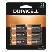 Duracell Specialty High-Power Lithium Batteries, 123, 3 V, 6/Pack (DL123AB6PK)