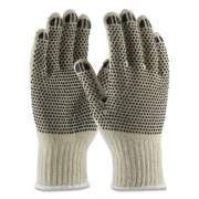 PIP PVC-Dotted Cotton/Polyester Work Gloves, Large, Gray/Black, 12 Pairs (177102)