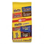 M & M's Fun Size Variety Mix, Caramel, Milk Chocolate, Peanut, Peanut Butter Flavors, 30.35 oz Bag, 55 Packs/Bag (56025)