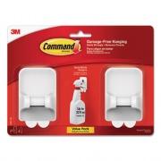 Command Spray Bottle Holder, 2.34 x 1.69 x 3.34, White, 2 Hangers/4 Strips/Pack (170092ES)