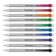 Paper Mate Write Bros Mechanical Pencil, 0.5 mm, HB (#2), Black Lead, Silver Barrel with Assorted Clip Colors, 24/Pack (2096303)
