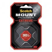 "Scotch Extreme Mounting Tape, 1"" x 60"", Black (414H)"