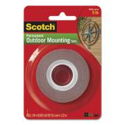 """Scotch Exterior Weather-Resistant Double-Sided Tape, 1"""" x 60"""", Gray (411S)"""