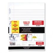 Five Star Reinforced Filler Paper, 3-Hole, 8 x 10.5, Wide/Legal Rule, 100/Pack (239880)