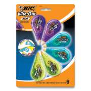 """BIC Wite-Out Brand Mini Correction Tape, Non-Refillable, 0.2"""" x 314"""".4, White Tape, 6/Pack (24423728)"""