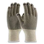 PIP PVC-DOTTED COTTON/POLYESTER WORK GLOVES, SMALL, GRAY/BLACK, 12 PAIRS (177103)