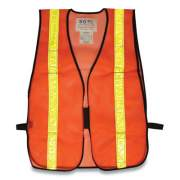 PIP HOOK AND LOOP SAFETY VEST, HI-VIZ ORANGE WITH YELLOW PRISMATIC TAPE, ONE SIZE FITS MOST (179386)