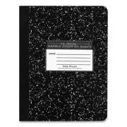 Roaring Spring Marble Composition Book, Wide/Legal Rule, Black Cover, 7.5 x 9.75, 50 Sheets (687889)