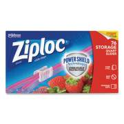 "Ziploc Slider Storage Bags, 1 qt, 5.88"" x 7.88"", Clear, 9/Carton (316490)"