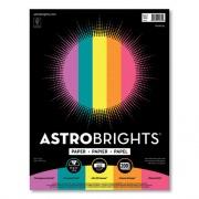 """Astrobrights Color Paper - """"Tropical"""" Assortment, 24 lb, 8.5 x 11, Assorted Tropical Colors, 500/Ream (24396498)"""