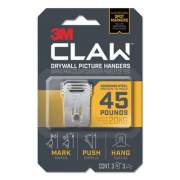 3M Claw Drywall Picture Hanger, Holds 45 lbs, 3 Hooks and 3 Spot Markers, Stainless Steel (3PH45M3ES)
