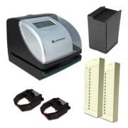 Acroprint ES700 Time Clock and Document Stamp Bundle, Black/Silver (TRB750)