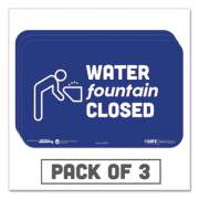 """Tabbies BeSafe Messaging Education Wall Signs, 9 x 6,  """"Water Fountain Closed"""", 3/Pack (29515)"""