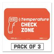 """Tabbies BeSafe Messaging Education Wall Signs, 9 x 6,  """"Temperature Check Zone"""", 3/Pack (29510)"""