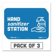 """Tabbies BeSafe Messaging Education Wall Signs, 9 x 6,  """"Hand Sanitizer Station"""", 3/Pack (29514)"""