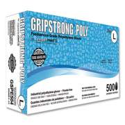 GripStrong Poly Foodservice Grade Polyethylene Gloves, Clear, Large, Polyethylene, 500/Box, 20 Boxes/Carton (GSPE504)