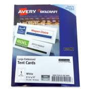 AbilityOne 7530016878805 SKILCRAFT/AVERY Tent Cards, White, 3.5 x 11, 1 Card/Sheet, 50 Cards/Box
