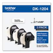 Brother Die-Cut Multipurpose Labels, 0.66 x 3.4, White, 400/Roll, 3 Rolls/Pack (DK12043PK)