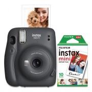 Fujifilm Instax Mini 11 Camera Bundle, Auto Focus, Charcoal (600021669)