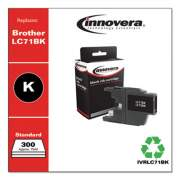 Innovera Remanufactured Black Ink, Replacement for Brother LC71BK, 300 Page-Yield