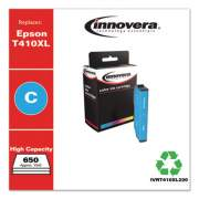 Innovera Remanufactured Cyan High-Yield Ink, Replacement for Epson T410XL (T410XL220), 650 Page-Yield