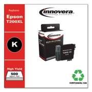 Innovera Remanufactured Black High-Yield Ink, Replacement for Epson T200XL (T200XL120), 500 Page-Yield