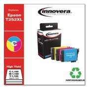 Innovera Remanufactured Cyan/Magenta/Yellow High-Yield Ink,Replacement for Epson T252XL(T252XL220;T252XL320;T252XL420) 1100 Page-Yield (T252XLBCLR)