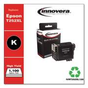 Innovera Remanufactured Black High-Yield Ink, Replacement for Epson T252XL (T252XL120), 1,100 Page-Yield