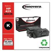 Innovera Remanufactured Black High-Yield MICR Toner, Replacement for HP 42X(M) (Q5942X(M)), 20,000 Page-Yield (Q5942XM)