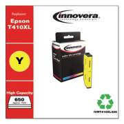 Innovera Remanufactured Yellow High-Yield Ink, Replacement for Epson T410XL (T410XL420), 650 Page-Yield