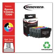 Innovera Remanufactured Black/Cyan/Magenta/Yellow Ink, Replacement for Epson T200XL/T200 (T200XL-BCS), B-500; C/M/Y- 165 Page-Yield
