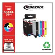 Innovera Remanufactured Black/Cyan/Magenta/Yellow Ink, Replacement for HP 564XL/564 (N9H60FN), B-550; C/M/Y-300 Page-Yield