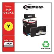 Innovera Remanufactured Yellow High-Yield Ink, Replacement for HP 952XL (L0S67AN), 1,600 Page-Yield