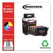 Innovera Remanufactured Black/Cyan/Magenta/Yellow Ink,Replacement for Epson T220XL(T220XL-120/220/320/420), B-500;C/M/Y-450 Page-Yield (T220XLBCS)