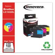 Innovera Compatible Cyan/Magenta/Yellow High-Yield Ink, Replacement for Brother LC1033PKS, 600 Page-Yield