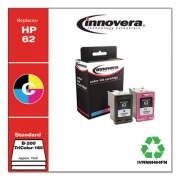Innovera Remanufactured Black/Tricolor Ink, Replacement for HP 62 (N9H64FN), B-200; Tri Color-165 Page-Yield