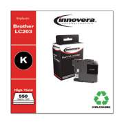 Innovera Remanufactured Black High-Yield Ink, Replacement for LC203BK, 550 Page-Yield