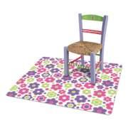 deflecto FashionMat Chair Mat, Rectangular, 35 x 40, Daisies (CM3540LD)