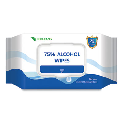 GN1 PERSONAL ETHYL ALCOHOL WIPES, 6 X 8, WHITE, 50/PACK (SA05024PK)