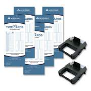 Acroprint EXP250 Accessory Bundle, 3.38 x 8.25, Weekly, Two-Sided, 250 Cards and 2 Ribbons/Kit
