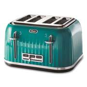 Oster 4-Slice Toaster with Textured Design with Chrome Accents, 12 x 13 x 8, Teal (2090575)