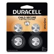 Duracell Lithium Coin Battery, 2025, 4/Pack (DL2025B4PK)