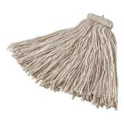 Rubbermaid Commercial Non-Launderable Cotton/Synthetic Cut-End Wet Mop Heads, 16 oz, White, Twister White Headband (F16600WH00)