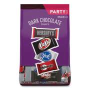 Hershey's Dark Chocolate Lovers Snack Size Party Pack, 32.89 oz Bag, Approximately 60 Pieces (24447399)